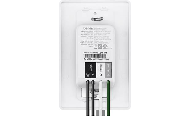 Belkin Wemo Smart Light Switches Rear-facing wiring