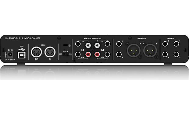 Behringer U-Phoria UMC404HD Back panel