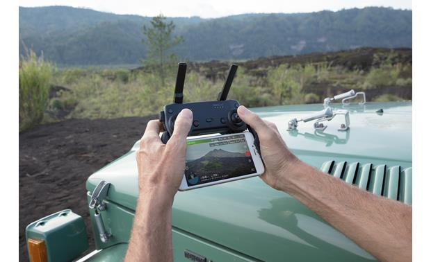 DJI Mavic Air Fly More Combo Dock your smartphone (not included) to see what your drone sees