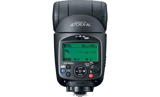 Canon Speedlite 470EX-AI Rear-panel LCD lets you view and change settings