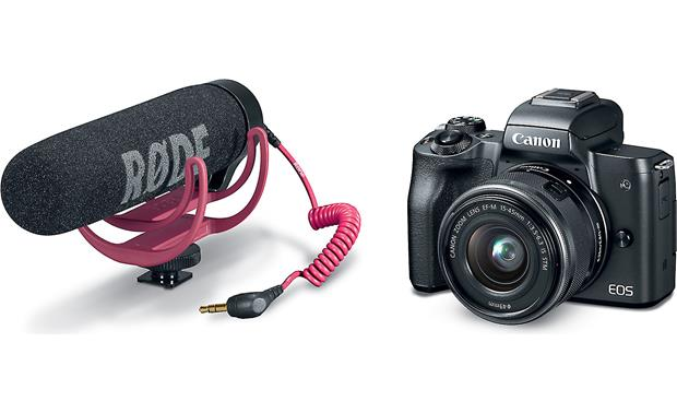 Canon EOS M50 Video Creator Kit Camera and microphone