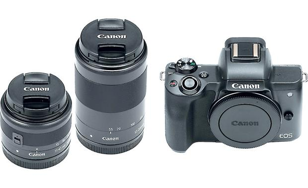 Canon EOS M50 Two Lens Kit Front