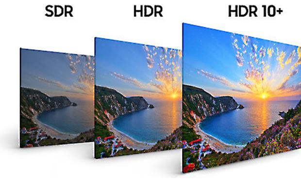 Samsung UN49NU8000 Compared to standard dynamic range (SDR), HDR 10 enhances overall picture contrast, while HDR 10+ improves scene-to-scene contrast