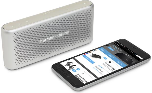 Harman Kardon Traveler Silver - stream music via Bluetooth (smartphone not included)