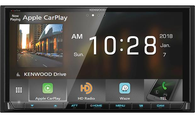 kenwood excelon dmx905s choose between apple carplay, wireless android  auto, and weblink for a