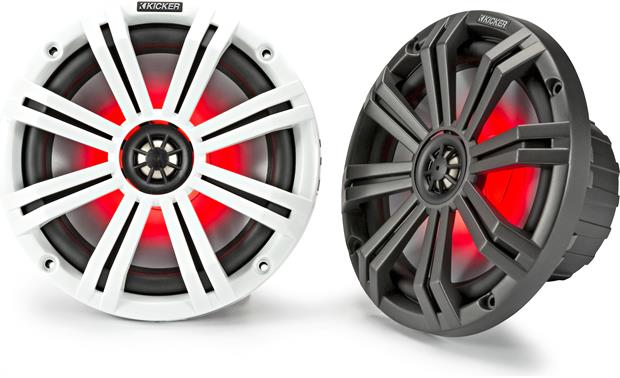 Kicker 45KM84L marine speakers with LED lighting