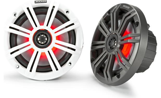 Kicker 45KM654L White and Charcoal grilles included