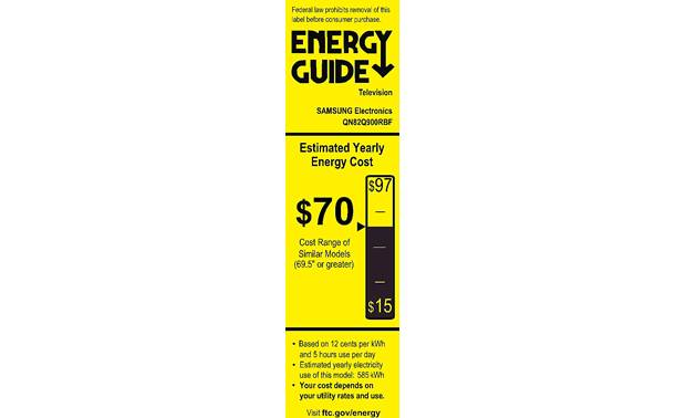 Samsung QN82Q900R Energy Guide