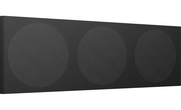 KEF Q650c Black Cloth Grille Magnetically attaches to the front of the speaker