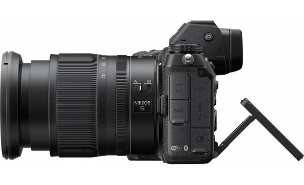 Nikon Z 6 Filmmaker's Kit Right side view, with touchscreen tilted upward