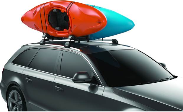 Thule Hull-a-Port XT upright for two kayaks