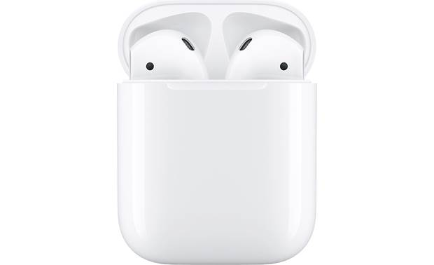"Apple® AirPods with Wireless Charging Case (2nd Generation) Offers longer talk time, quicker connection, and hands-free ""Hey Siri"" voice commands"