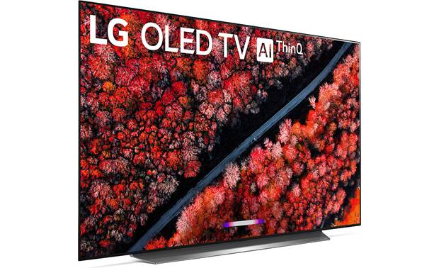 LG OLED65C9PUA Angled right