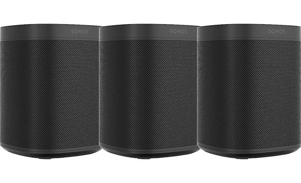 Sonos One (Gen 2) 3-pack Black