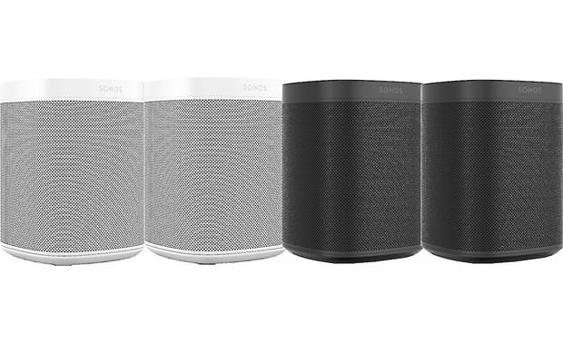 Sonos One (Gen 2) 4-pack 2 Black, 2 White
