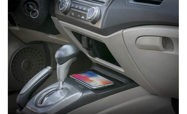 Scosche HAQ02 Your phone nestles neatly on the center console as it charges (phone not included)
