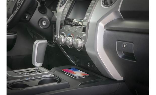 Scosche TAQ03 Your phone nestles neatly on the center console (phone not included)