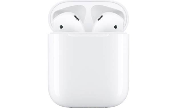 "Apple® AirPods (2nd Generation) Offers longer talk time, quicker connection, and hands-free ""Hey Siri"" voice commands"
