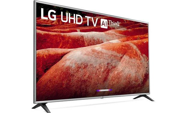 LG 75UM7570PUD Angled right