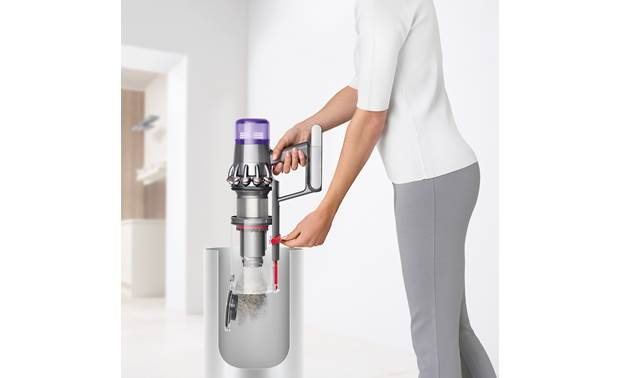 Dyson V11™ Animal Easy-empty bin helps keep dust down and your hands clean
