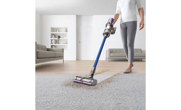 Dyson V11™ Torque Drive Ultra-efficient nickel torque drive cleaner head cleans carpet and hard surfaces well