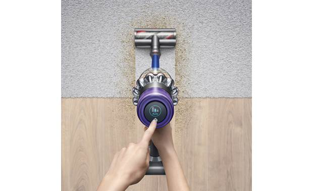 Dyson V11™ Torque Drive LCD display shows current cleaning mode and lets you switch easily