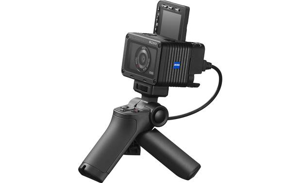 Sony RX0 II Shown with Sony VCT-SGR1 shooting grip in tripod orientation (grip sold separately)