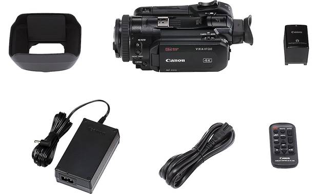 Canon VIXIA HF G60 Shown with included accessories