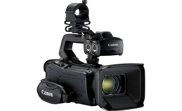 Canon XA50 Handle unit also includes dual XLR balanced audio inputs