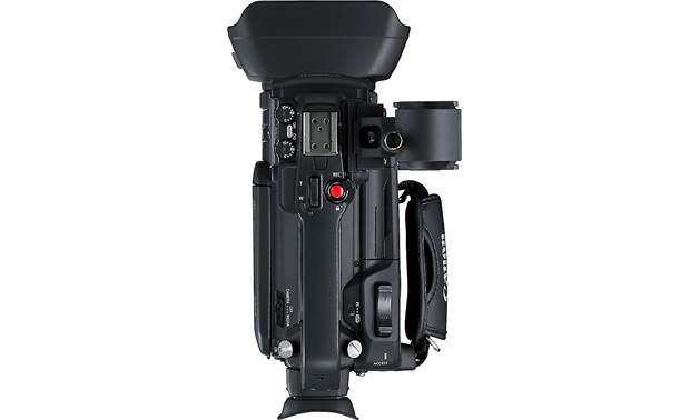 Canon XA55 Handle includes an accessory shoe (cold) and external microphone holder