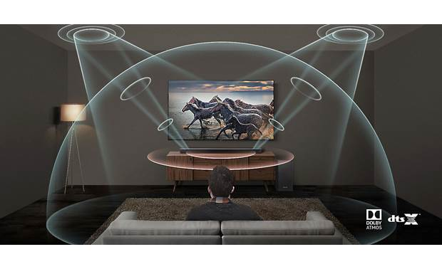 Samsung/Harman Kardon HW-Q70R Acoustic Beam technology helps deliver immersive Atmos and DTS:X content