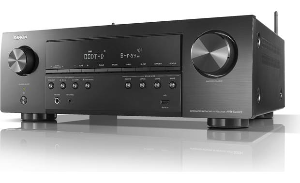 Denon AVR-S650H (2019 model) Angled front view