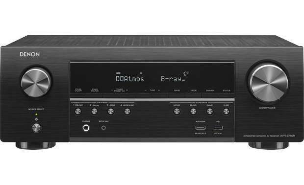 Denon Avr S750h 2019 Model 7 2 Channel Home Theater Receiver With Wi Fi Bluetooth Apple Airplay 2 And Amazon Alexa Compatibility At Crutchfield