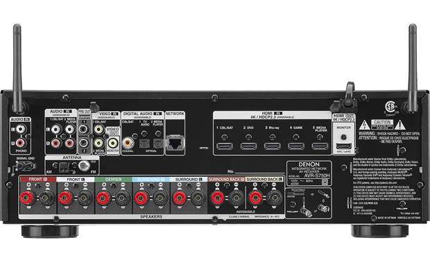Denon AVR-S750H (2019 model) Back