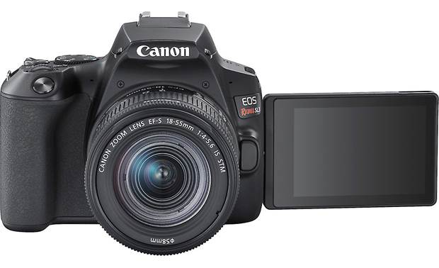 Canon EOS Rebel SL3 Kit Shown with rotating touchscreen facing forward