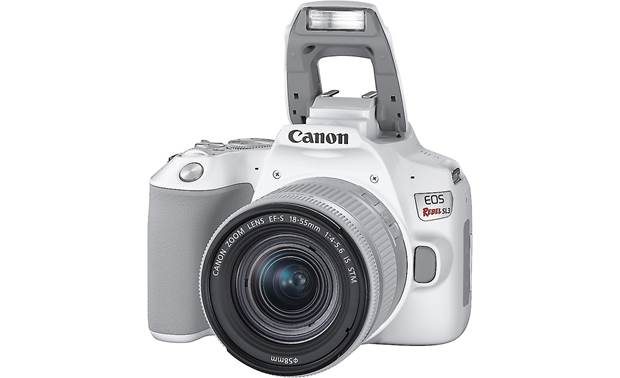 Canon EOS Rebel SL3 Kit Shown with pop-up flash deployed