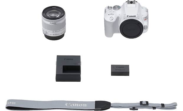 Canon EOS Rebel SL3 Kit Shown with included accessories