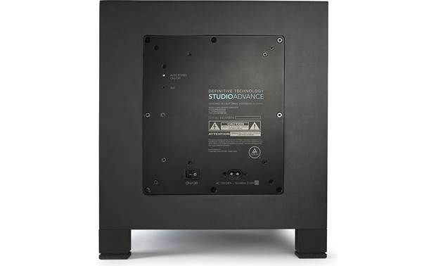 Definitive Technology Studio Advance Back of subwoofer