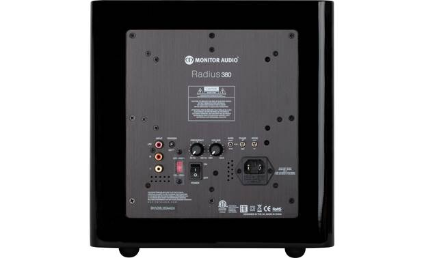 Monitor Audio Radius 380 Back (shown in black)