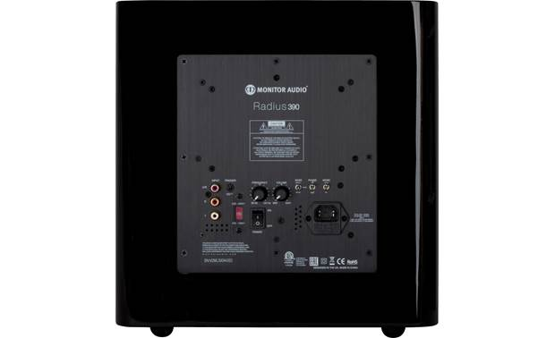 Monitor Audio Radius 390 Back (shown in black)
