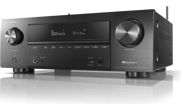 Denon AVR-X1600H (2019 model) Angled front view