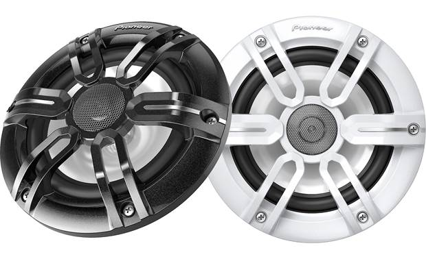 Pioneer TS-ME650FS Pioneer includes both two sets of grilles - black and white - to match your boat.