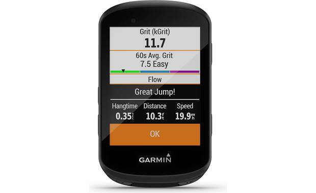 Garmin Edge 530 Mountain Bike Bundle Grit tracking.