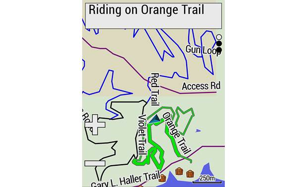 Garmin Edge 530 Sensor Bundle Trail maps.