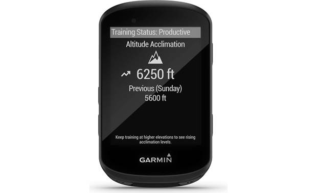 Garmin Edge 530 Sensor Bundle Acclimatization tracking.