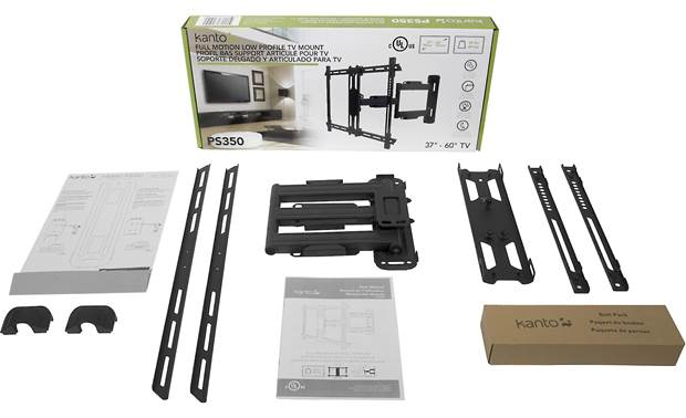Kanto PS350 Black - mount and included hardware