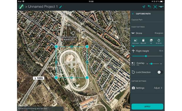 Parrot Bluegrass Fields ParrotFields app lets you plan automated flight routes