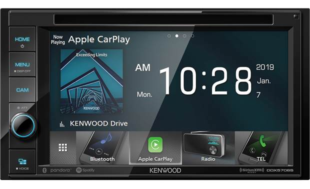 Kenwood DDX5706S Apple CarPlay gives iPhone users the apps and interface they love