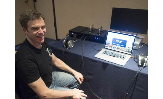 MrSpeakers VOCE Dan Clark, MrSpeakers founder and head engineer, shows off the VOCE headphones at CanJam NYC