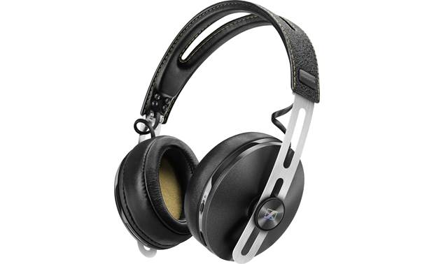 Sennheiser Momentum Over-ear Wireless Noise-canceling headphones that play music wirelessly via Bluetooth